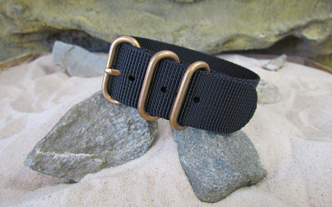 The Black-Ops Z3™ Ballistic Nylon Strap w/ BRONZE Hardware 22mm