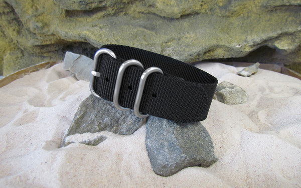 The Black-Ops Z3™ Ballistic Nylon Strap w/ Brushed SS Hardware (Stitched) 18mm