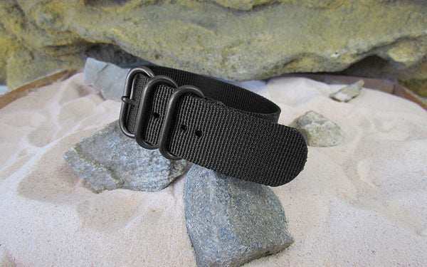 The Black-Ops Z3™ Ballistic Nylon Strap w/ PVD Hardware (Stitched) 24mm