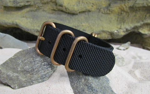 The Black-Ops Z5™ Ballistic Nylon Strap w/ BRONZE Hardware (Stitched) 20mm