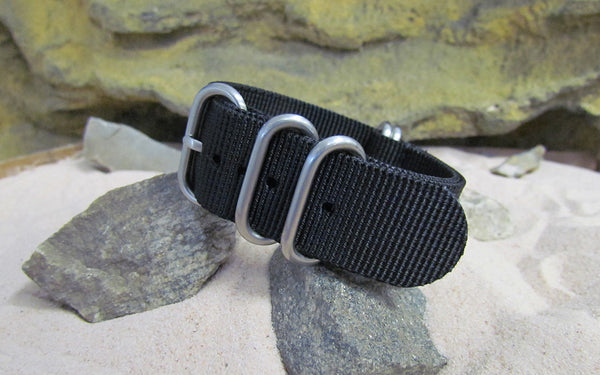 The Black-Ops Z5™ Nato Strap w/ Brushed SS Hardware (Stitched) 24mm