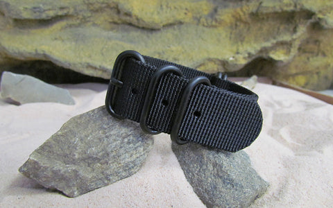 The Black-Ops Z5™ Ballistic Nylon Strap w/ PVD Hardware (Stitched) 22mm