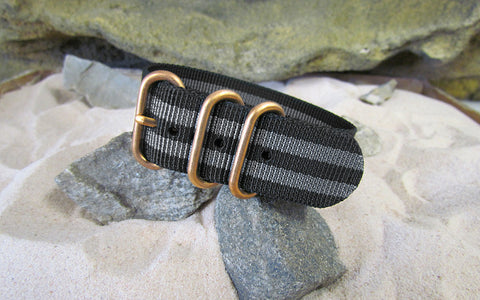 The Black-Ops II Z3™ Nato Strap w/ BRONZE Hardware (Stitched) 22mm