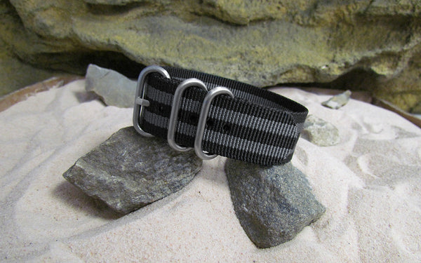 The Black-Ops II Z3™ Ballistic Nylon Strap w/ Brushed SS Hardware (Stitched) 20mm