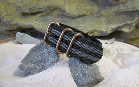 The Black-Ops II Z5™ Ballistic Nylon Strap w/ BRONZE Hardware (Stitched) 20mm