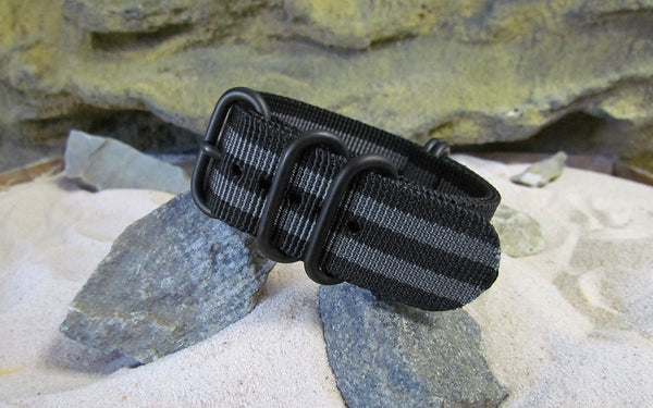 The Black-Ops II XII Z5™ Ballistic Nylon Strap w/ PVD Hardware 22mm