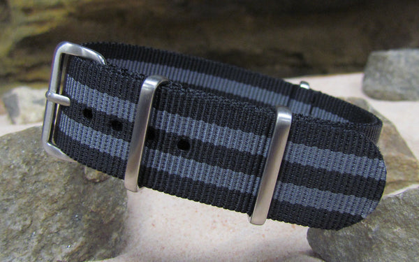The Black-Ops II Nato Strap w/ Brushed Hardware (Stitched) 24mm