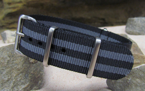 The Black-Ops II NATO Strap w/ Brushed Hardware (Stitched) 18mm