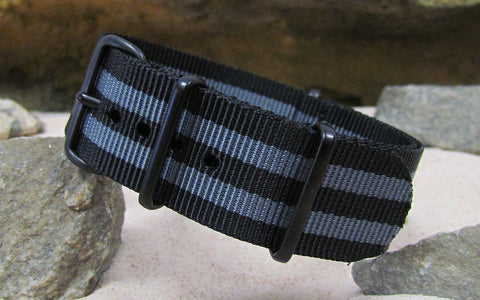 The Black-Ops II Ballistic Nylon Strap w/ PVD Hardware (Stitched) 28mm