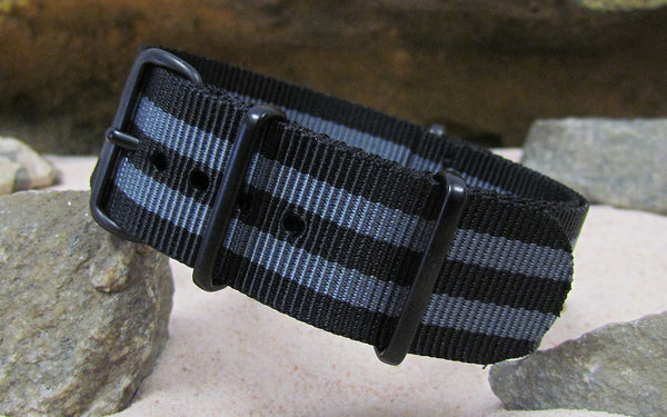 The Black-Ops II Ballistic Nylon Strap w/ PVD Hardware (Stitched) 18mm