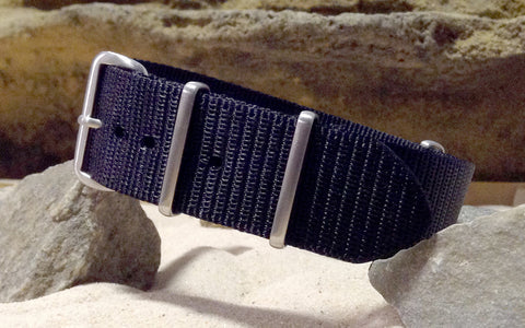 The NEW Black-Ops XII NATO Strap w/ Brushed Hardware (Stitched) 24mm