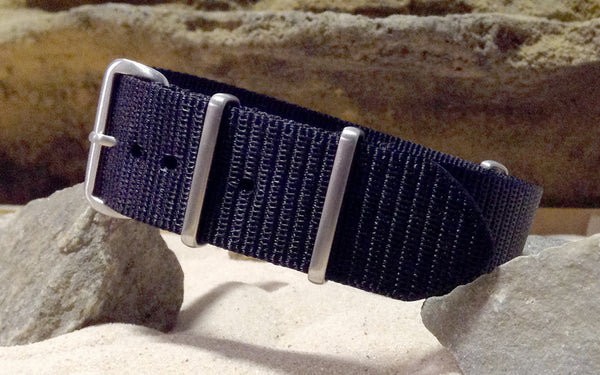 The NEW Black-Ops XII Nato Strap w/ Brushed Hardware (Stitched) 18mm