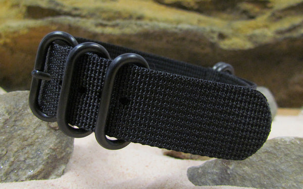 The Black-Ops XII Z5™ Ballistic Nylon Strap w/ PVD Hardware 18mm
