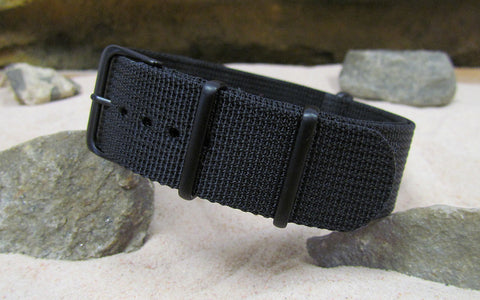 The Black-Ops XII Nato Strap w/ PVD Hardware (Stitched) 22mm