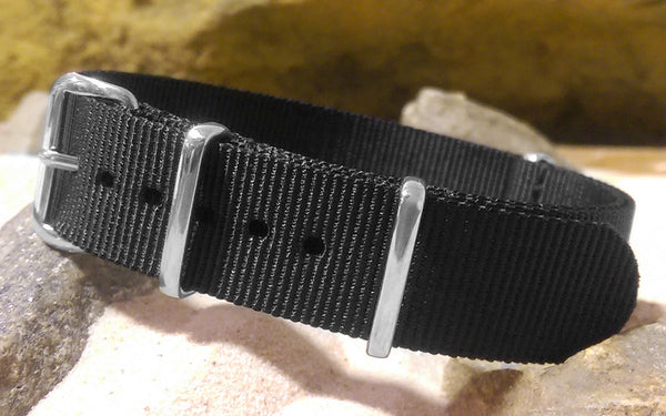 The Standard Black-Ops XII Nato Strap w/ Polished Hardware 18mm