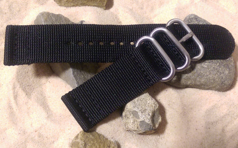 The Black Ops Z3™ Two-Piece Ballistic Nylon Strap w/ Brushed Hardware (Stitched) 24mm