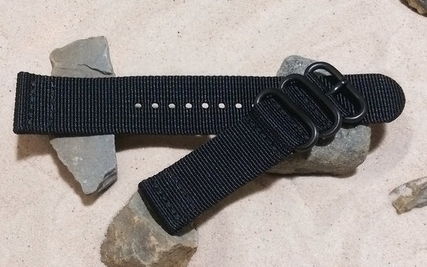The Black Ops Z3™ Two-Piece Ballistic Nylon Strap w/ PVD Hardware (Stitched) 22mm