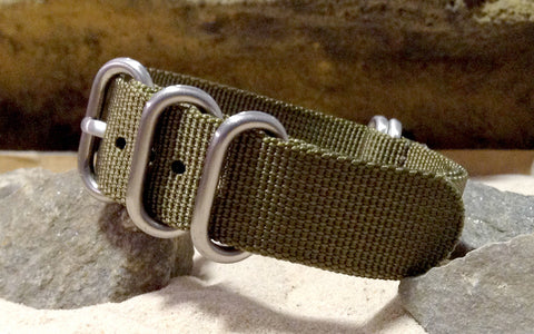 The Brigade XII Z5™ Ballistic Nylon Strap w/ Brushed Hardware (Stitched) 26mm