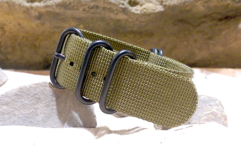 The Brigade Z5™ Ballistic Nylon Strap  w/ PVD Hardware (Stitched) 20mm