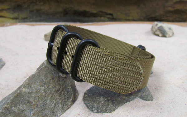 The Cadet XII Z5™ Ballistic Nylon Strap w/ PVD Hardware (Stitched) 18mm