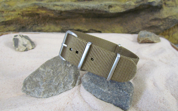 The Cadet Nato Strap w/ Brushed Hardware (Stitched) 20mm