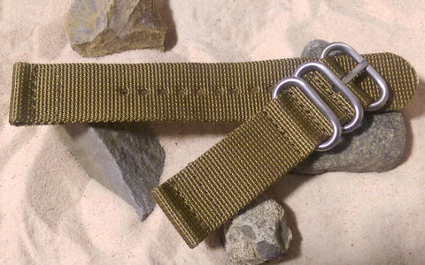 The Cadet Z3™ Two-Piece Nato Strap w/ Brushed Hardware (Stitched) 22mm