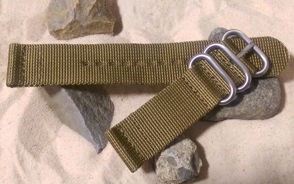 The Cadet Z3™ Two-Piece Nato Strap w/ Brushed Hardware (Stitched) 24mm