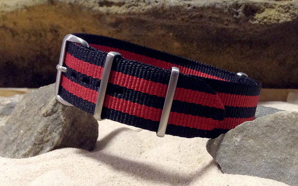 The NEW Cobra XII NATO Strap w/ Brushed Hardware (Stitched) 20mm