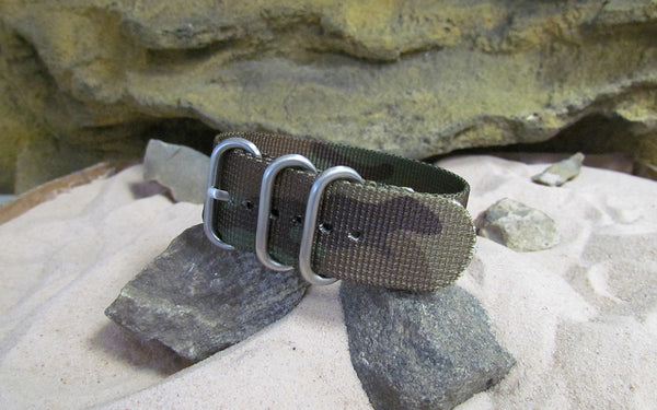 The Col. Braddock Z3™ Nato Strap w/ Brushed SS Hardware (Stitched) 22mm