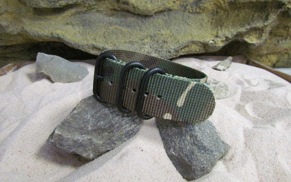 The Col. Braddock Z3™ Nato Strap w/ PVD Hardware (Stitched) 20mm