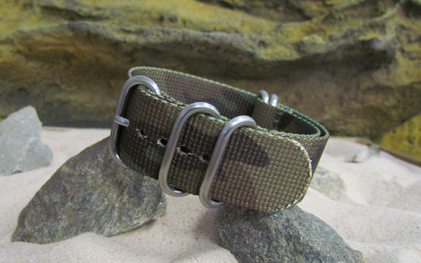 The Col. Braddock Z5™ Nato Strap w/ Brushed SS Hardware (Stitched) 20mm