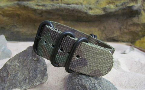The Col. Braddock Z5™ Ballistic Nylon Strap w/ PVD Hardware 18mm