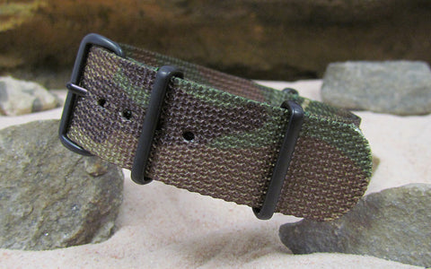 The Col. Braddock Nato Strap w/ PVD Hardware (Stitched) 18mm