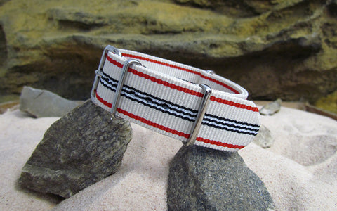 The Colonial Ballistic Nylon Strap w/ Polished Hardware 20mm