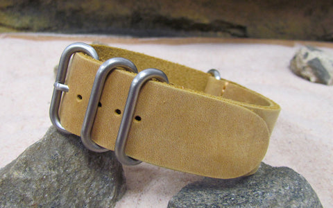 The Cowboy Z4™ Leather Strap w/ Brushed Hardware (Stitched) 20mm