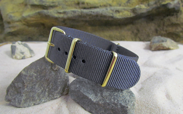 The Crew Ballistic Nylon Strap w/ Gold Hardware (Stitched) 18mm