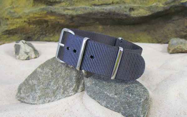 The Crew Nato Strap w/ Polished Hardware (Stitched) 22mm