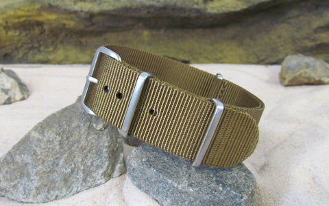 The Platoon Nato Strap w/ Brushed Hardware (Stitched) 18mm