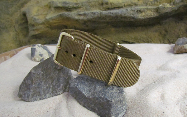 The Platoon Ballistic Nylon Strap w/ Gold Hardware (Stitched) 18mm