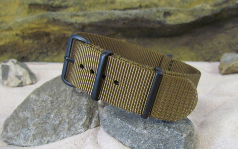 The Platoon Nato Strap w/ PVD Hardware (Stitched) 18mm