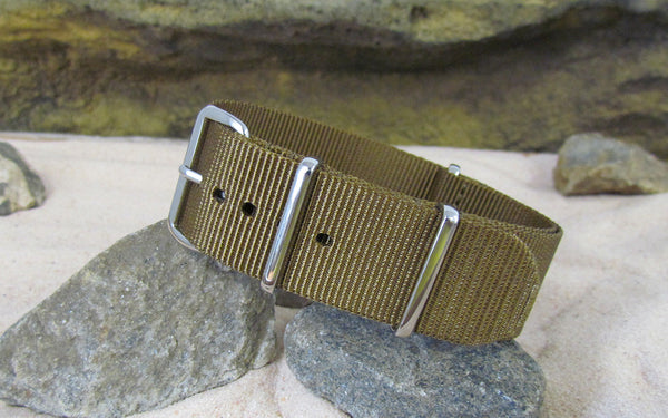 The Platoon Nato Strap w/ Polished Hardware (Stitched) 22mm