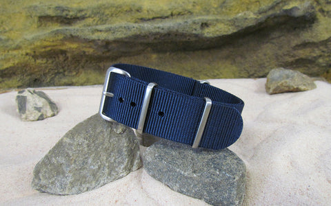 The Submarine Ballistic Nylon Strap w/ Brushed Hardware (Stitched) 18mm