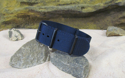 The Submarine XII Nato Strap w/ PVD Hardware (Stitched) 18mm