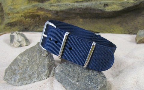 The Submarine Ballistic Nylon Strap w/ Polished Hardware 24mm