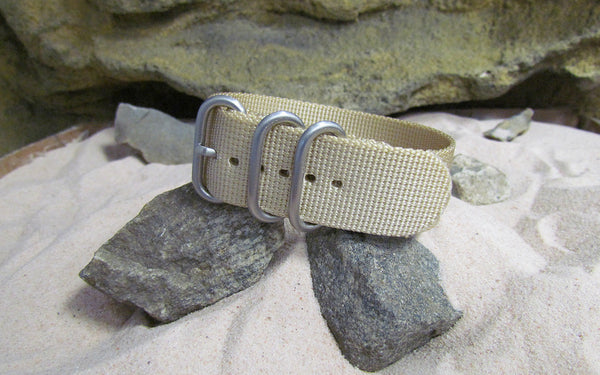 The Desert Dweller Z3™ Ballistic Nylon Strap w/ Brushed SS Hardware 22mm