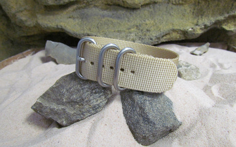 The Desert Dweller Z3™ Ballistic Nylon Strap w/ Brushed SS Hardware (Stitched) 20mm