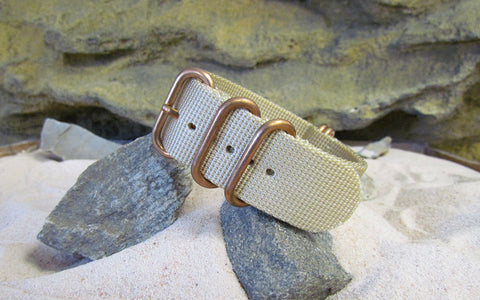 The Desert Dweller Z5™ Ballistic Nylon Strap w/ BRONZE Hardware (Stitched) 20mm
