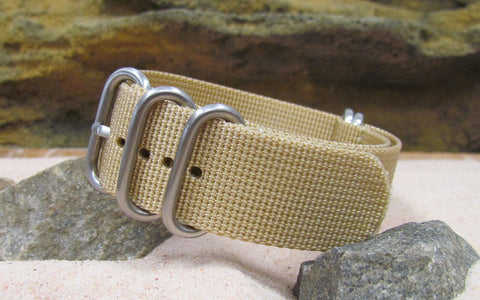The Desert Dweller XII Z5™ Nato Strap w/ Brushed SS Hardware (Stitched) 24mm
