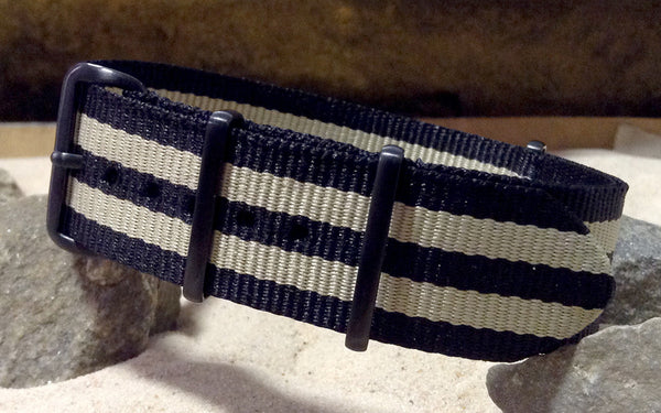 The NEW Desert-Ops XII NATO Strap w/ PVD Hardware (Stitched) 26mm