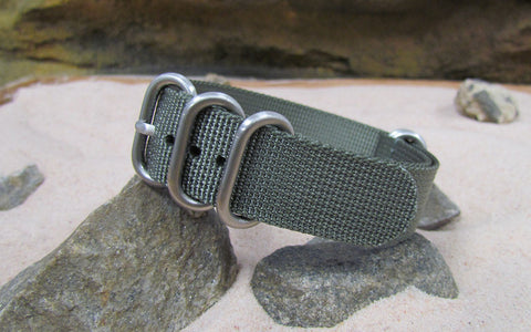 NEW ITEM - The Destroyer XII Z5™ Nato Strap w/ Brushed Hardware (Stitched) 24mm